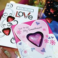 Sweet nothings: This year Archies is offering 192 options in card designs, including musical cards. Madhu Kapparath / Mint