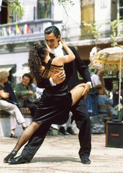 Step up: A spirited tango transcends dance to weave narratives about love, lust and passion. AFP