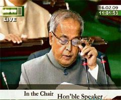 Zero stimulus: Acting finance minister Pranab Mukherjee presenting the interim budget in New Delhi on Monday. The new regime will have to weigh up the benefits of sacrificing fiscal health for econom
