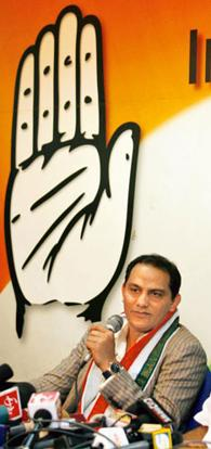 Stroke power: Former cricket captain Mohammed Azharuddin. Manish Swarup / AP