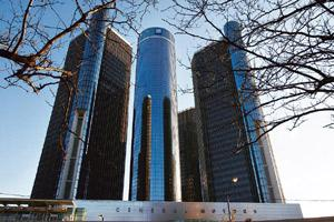 Bleeding firms: General Motors Corp. headquarters in Detroit, US. The firm's Saab AB unit has filed for protection from creditors. Paul Sancya / AP