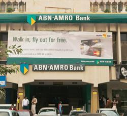 Staying focused: An ABN Amro Bank branch in New Delhi. RBS, which bought ABN Amro in 2007, plans to sell the bank in an effort to significantly downsize its balance sheet by shedding off non-core oper