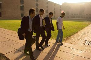 Few takers: A file photo of recruiters at the IIM-A campus. Madhu Kapparath / Mint