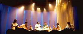Screen presence: Margazhi Raagam stars T.M. Krishna and Bombay Jayashree in a staged concert.