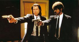 Deadly duo: John Travolta (left) and Samuel Jackson in Pulp Fiction. AFP