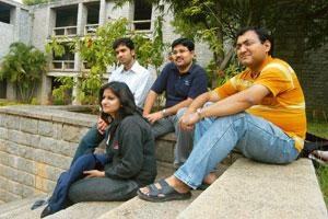 Slow uptake: Students at IIM Bangalore. The premier B-school has seen fewer recruiters this year during its placement process. Manjunath Kiran / Mint