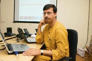 Spreading the Web: Prodyut Bora aims to draw 100,000 visitors to the blog every day by mid-May. Ramesh Pathania / Mint