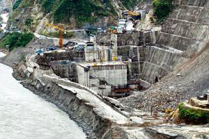 Testing times: A file photo of the Lower Subansiri project in Arunachal Pradesh. Several capital-intensive infrastructure projects have been stalled for lack of funding as economic growth slows to an