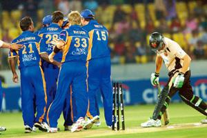 Fate unclear: A file photo of an IPL match from the first season. PTI