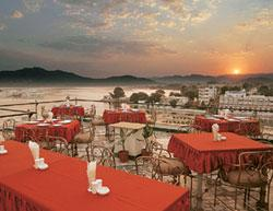 Picture perfect: Mewar Haveli in Udaipur has a rooftop restaurant, overlooking Pichola lake, that serves delicacies from across India. Mewar Haveli, Udaipur