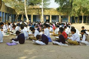 Poor showing: Exam-time at a government school in Faridabad. Little initiative has been taken to improve the quality of education. Rajkumar / Mint