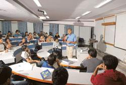 Slow season: A file photo of an IIM Bangalore classroom. On the last day of placements, four state-owned firms visited the campus. Hemant Mishra / Mint