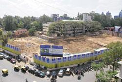 Hard hit: A plot owned by Sobha Developers in Bangalore. Hemant Mishra / Mint