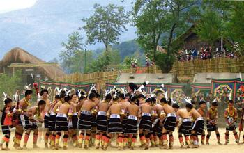 Clan culture: The Angami tribals perform the popular Dapfhu Phita dance. Photograph: Lalitha Suhasini