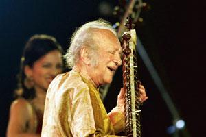 Maestro at work: Lavezzoli's interview with Pandit Ravi Shankar is one of the best sections of the book. Deshakalyan Chowdhury / AFP