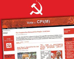 New entry: A screen grab of CPM's election-dedicated website.