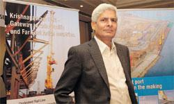 Financial closure: KPCL's C.V. Rao says the firm has enough funds for expanding the port's cargo handling capacity to 100mt by 2015. Bharath Sai / Mint