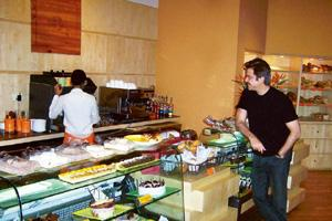 Cafe culture: Anil Kapoor is a regular at the Bombay Baking Company. Photographs courtesy: JW Marriott