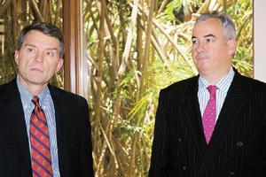 Revamp mode: DHL Exel's CEO Bruce Edwards (left) with Paul Harry Graham, CEO, Asia Pacific wing.