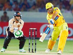 Mega platform: A file photo of IPL's season 1 match between Chennai Super Kings and Deccan Chargers in Hyderabad. PTI