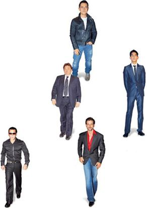 Clothes make the man: (Clockwise from top) Aamir Khan, Dev Patel; Hrithik Roshan, Salman Khan and Rishi Kapoor.