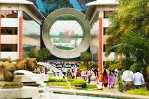 Tech shift: The Infosys campus in Bangalore. The decision to shift from IBM to Infosys could result in job losses at the US firm. Madhu Kapparath / Mint