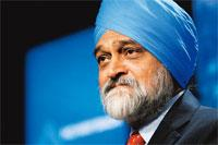 Headroom: Ahluwalia says there is still scope for cuts in the repo rate. Scott Eells / Bloomberg