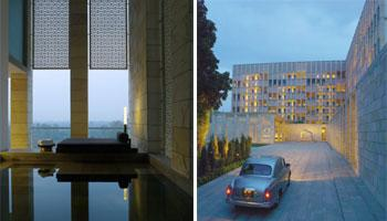 The Aman, New Delhi will have a fleet of 15 Ambassador cars,  (left) 57 rooms will have private plunge pools
