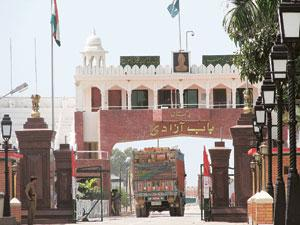 No trade: The Wagah border. Pakistan does not allow India to export to Afghanistan through this point. Rahul Chandran / Mint