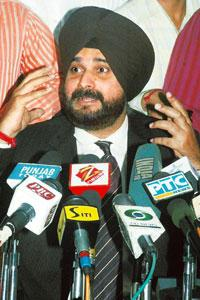 Grey area: A file photo of Navjot Singh Sidhu. In 2007, the apex court stayed his conviction interpreting Sec. 389 of the Criminal Penal Code. Narinder Nanu / AFP