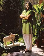 Home turf: Deepa Mehta at her parents' house in New Delhi. Harikrishna Katragadda / Mint