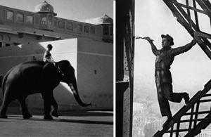(Left) Jaipur, India 1956; and The Painter of the Eiffel Tower. Marc Riboud