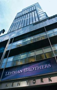 Big fall: The Lehman Brothers headquarters in New York. Daniel Acker / Bloomberg