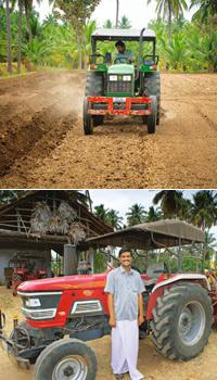 Bringing change: S. Mahalingham (above) is an operator and P. Selvaraj (below) is in charge of one of the Namadhu Parry Meyyam's (which in Tamil means 'Our Parry Centre'), a centre for farmers that is