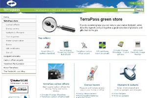 Terrapass.com has an online store that allows users to easily buy carbon offsets and interesting environmentally-aware gifts