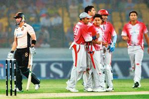 Drawing power: Celebrations during a match in the first edition of IPL. Estimates by media agencies suggest that in 2008, IPL had over a course of 44 days generated around 300 gross rating points. PTI