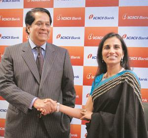 In good hands: Chanda Kochhar (right) is set to replace K.V. Kamath as CEO and managing director of ICICI Bank Ltd in May. Abhijit Bhatlekar / Mint