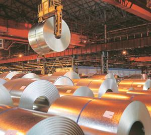 Shrinking: A cold rolling mill of Tata Steel. Manufacturing, which constitutes 80% of IIP, contracted by 1.4% in February.