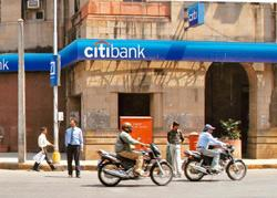 Rising woes: A Citibank branch in Mumbai. The bank is going slow on the unsecured business in personal loans and credit cards in India. Santosh Verma / Bloomberg