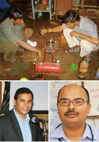 Social enterprises: (clockwise from above) Servals Automation's fuel-conserving kerosene burner being tested at the company's Chennai facility; Vineet Rai, chief executive officer of Aavishkaar India