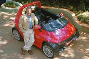Eco drive: Reva deputy chairman Chetan Maini believes it's important to reflect the zero-pollution philosophy in all aspects of the car. Hemant Mishra / Mint