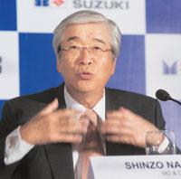 Being optimistic: Maruti Suzuki's CEO Shinzo Nakanishi said the benefits from falling commodity prices will come only in the first quarter of 2010. He was announcing the firm's annual results in New D