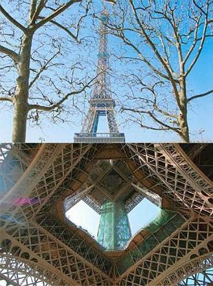 Ideal gift: The Eiffel Tower got a new coat of paint on its birthday. Photographs by Siddhartha Vaidyanathan