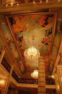 The fresco in the lobby has been hand painted by Italian artists.