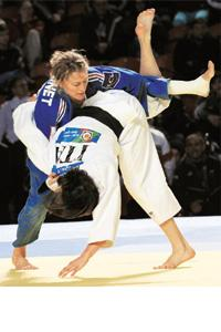 Power girl: To be one, try mastering these Judo moves. Vano Shlamov / AFP