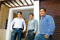 Long-term plans: (from left) Kailash Rathi, Sudarshan Purohit and Ankur Agarwal of Relocateeasily.com. Hemant Mishra / Mint