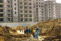 Bailout: The site of the Commonwealth Games Village in New Delhi. Emaar MGF, which is developing the project in partnership with DDA, has been unable to sell the flats according to plan. Rajkumar / Mi