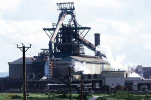 Layoffs loom: The Corus Redcar steel plant in Cleveland, UK. Corus may shut a plant in Teesside, UK, threatening around 10,000 jobs. Mark Pinder / Bloomberg