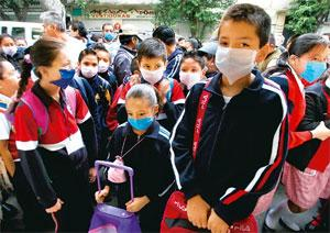Worst-hit: Schoolchildren in Mexico. The swine flu virus, especially in Mexico, is characterized by sustained human-to-human transmission. Jorge Dan / Reuters