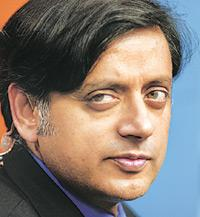 New roles: Tharoor's now connecting with the masses. Munshi Ahmed / Bloomberg